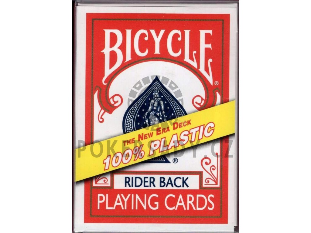 Karty na poker Bicycle - 100% plastic - Red back