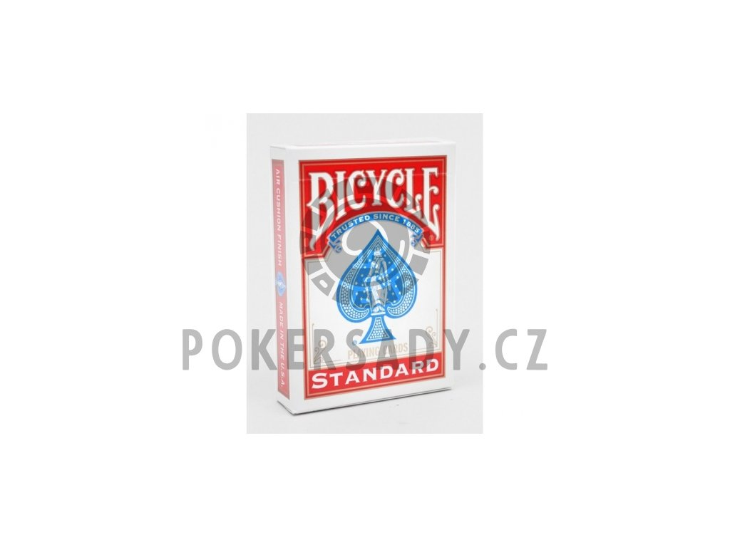 Poker karty Bicycle STANDARD Rider Back Index RED