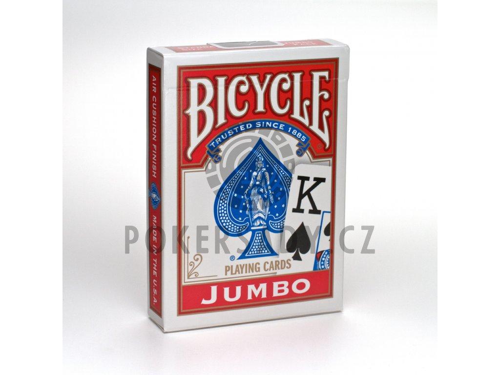 Bicycle Rider Back Jumbo Poker červené