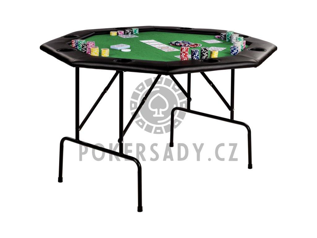 Poker stůl osmihran skládací - zelený