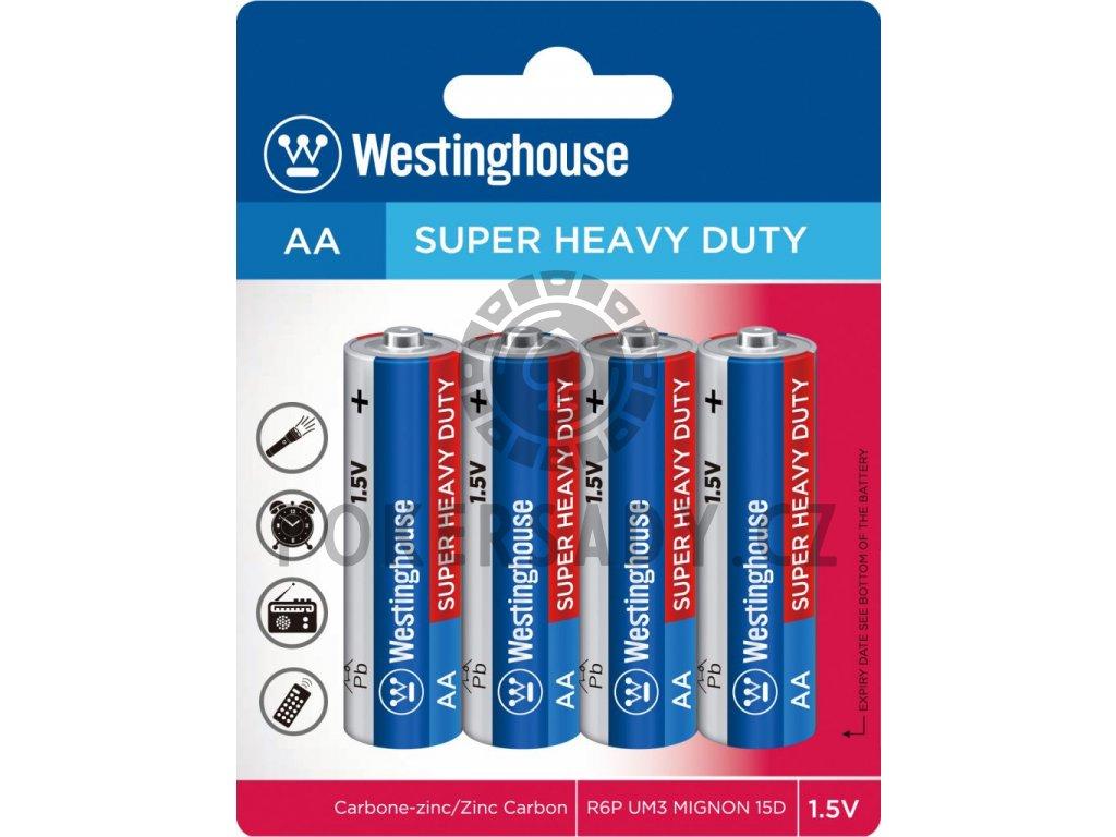 Baterie Westinghouse AA 1,5V, blistr 4ks