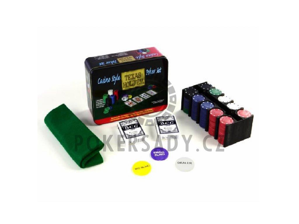 Poker Set - 200 žetonů v plechové dóze