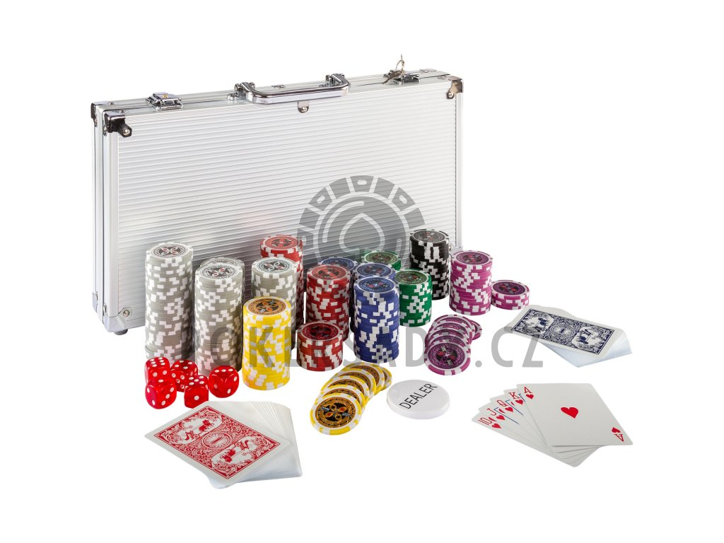 Poker Set - 300 laserových žetonů Ultimate