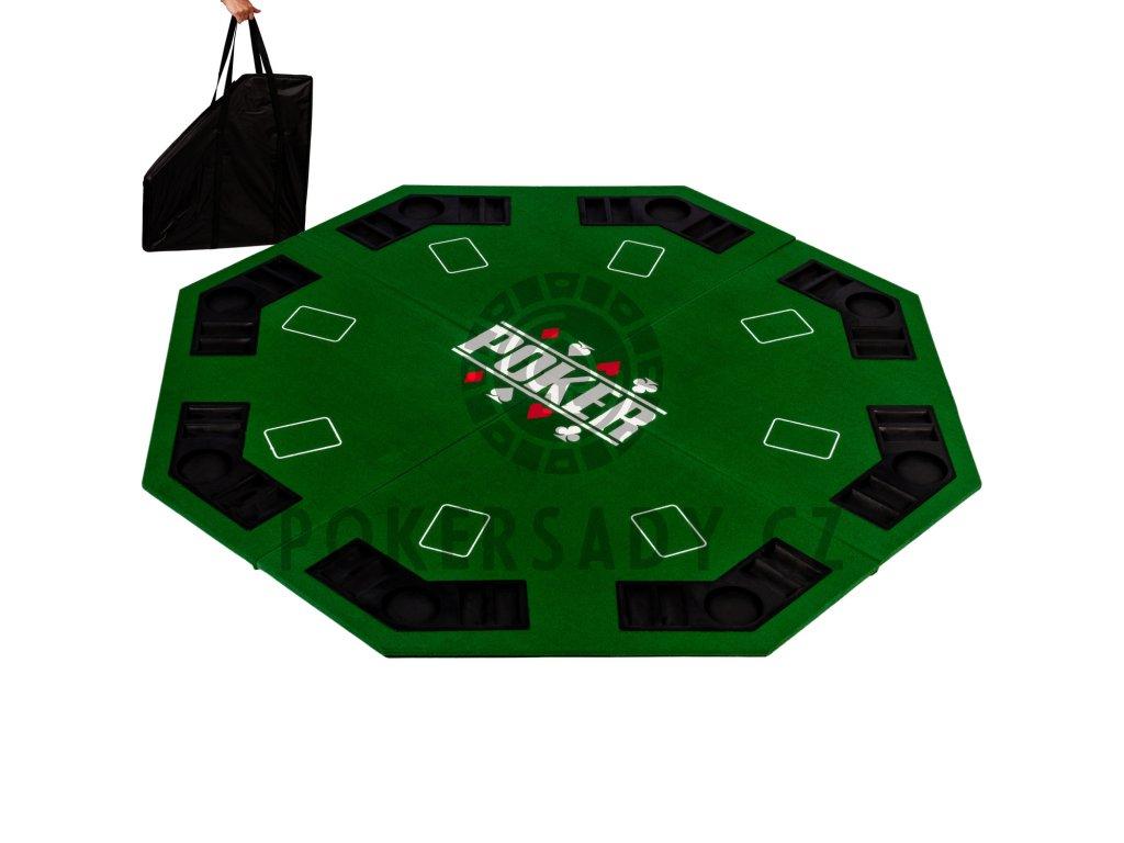 Skládací pokerová podložka osmihran zelená