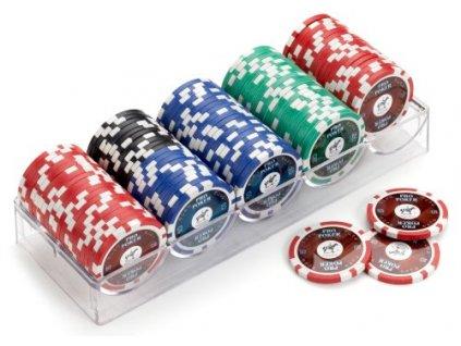 Piatnik set 100 ks vysoce lesklých poker žetonů