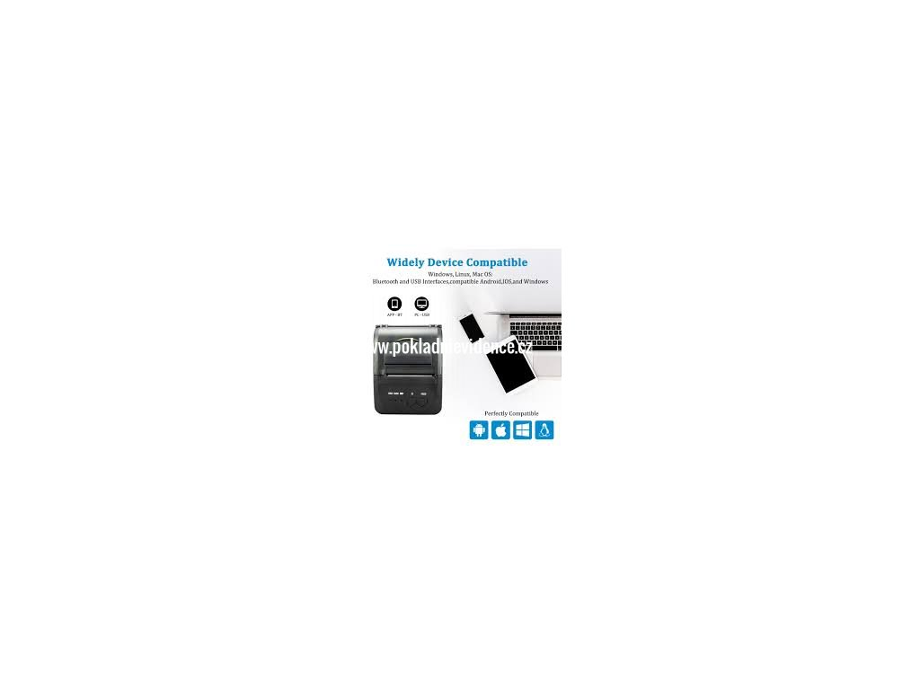 Termální tiskárna Bluetooth mobilní: iPhone