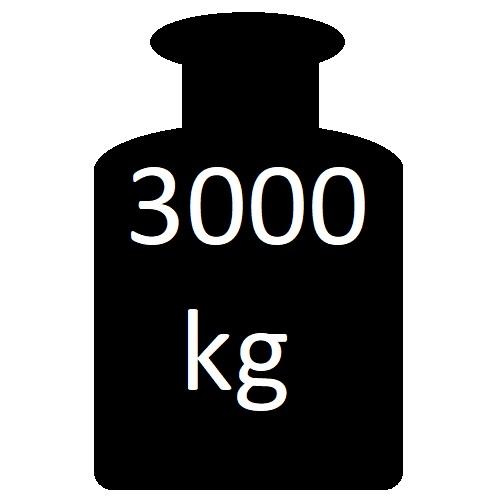 do 3000 kg