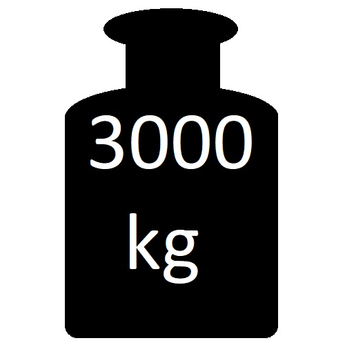 od 600 - 3000 kg