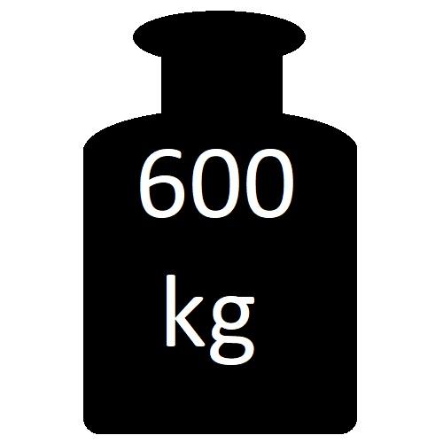 do 600 kg