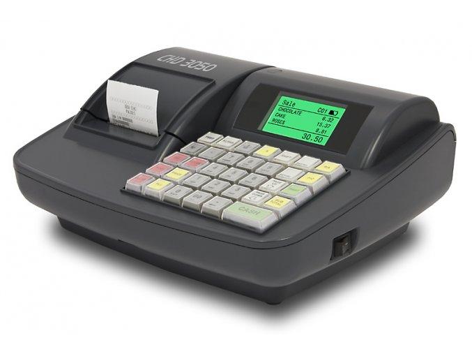 CHD 3050 ETH, obchodní pokladna  Obchodní pokladna připravená pro EET (e-tržby), vhodná pro stánky a menší prodejny