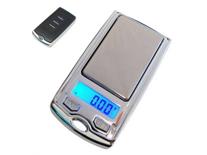 LESAK P335, 100g/0,01g, kapesní váha o rozměrech ovladače od auta