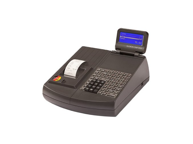 Quorion QMP 2044 2XRS/USB/OL LCK, registrační pokladna se zámkem černá