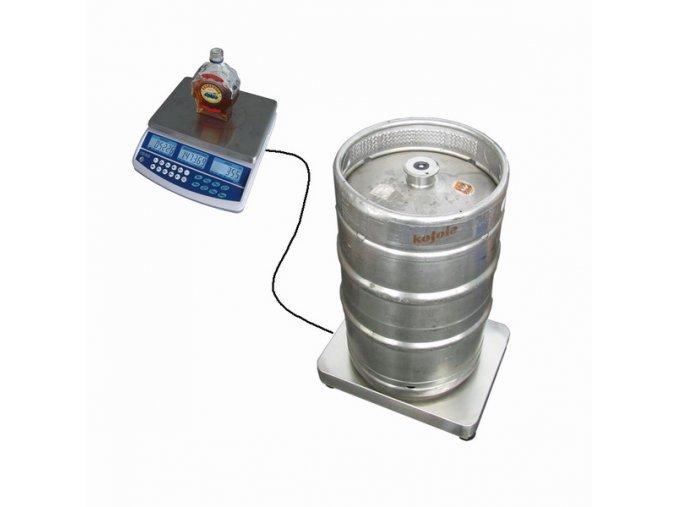 TSCALE QHD, 3kg, můstek 1T3040LN, 150 kg  vážící sestava na alkohol a sudy