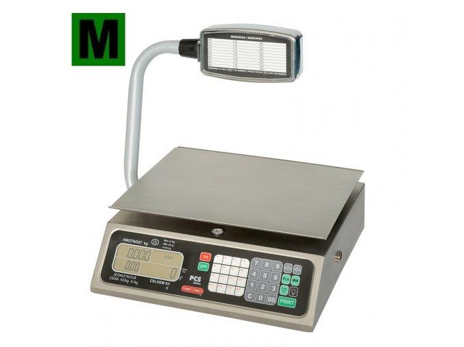 TORREY PCS-20T, 20kg, 350mmx280mm  Obchodní pultová váha s výpočtem ceny a displejem na stativu