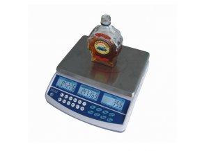 TSCALE QHD, 3kg, 225mmx300mm  Váha pro zjišťování objemu tekutin, počítání bankovek a mincí s možností připojení externí plošiny pro vážení sudů