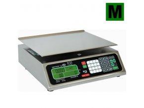 TORREY PCS-20, 20kg, 350mmx280mm  Obchodní pultová váha s výpočtem ceny v nízkém provedení