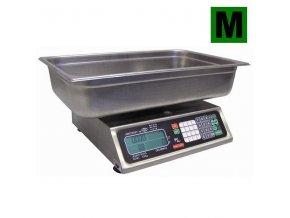 TORREY PCS-20 MR, 20kg, 350mmx280mm  Obchodní pultová váha na ryby s výpočtem ceny s nerezovou miskou