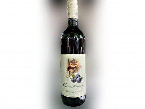 Borůvkové víno ovocné polosladké