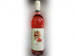 Malinové víno ovocné polosladké