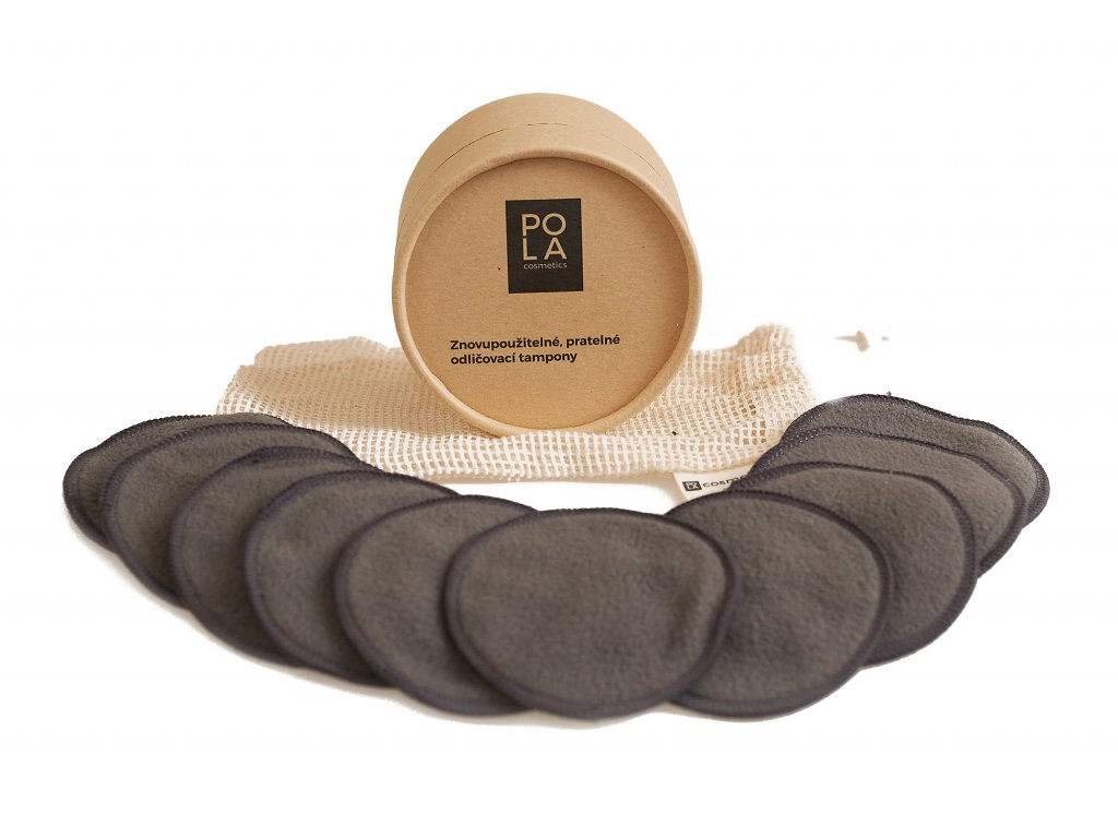 Odličovací tampony s uhlíkovými vlákny 10ks