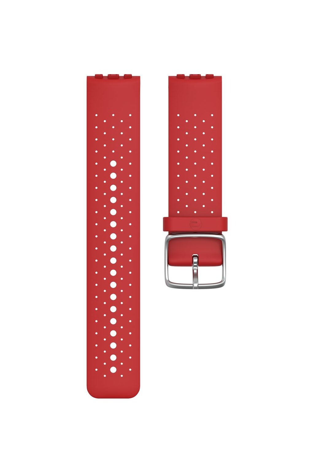 Vantage M accessory silicone wristband front red (1)