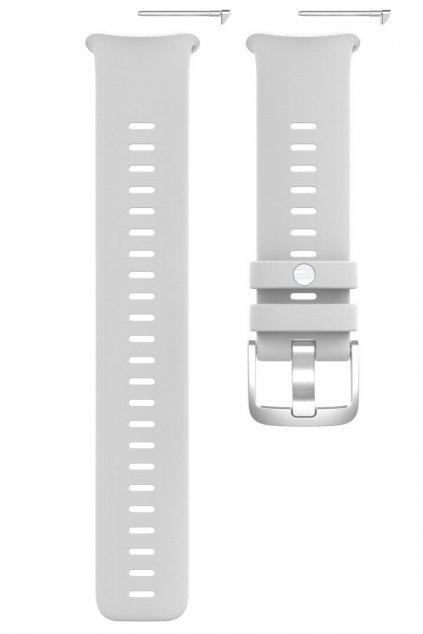 Polar Vantage V2 silicone wristband front white grey