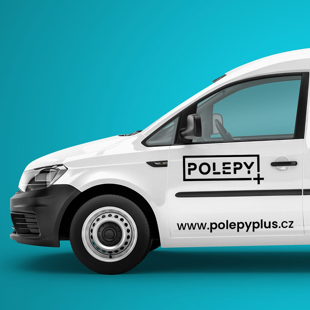 Samolepka na auto - přední dveře - velké logo s webem