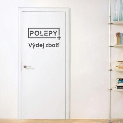 Samolepka na dveře - logo s nápisem