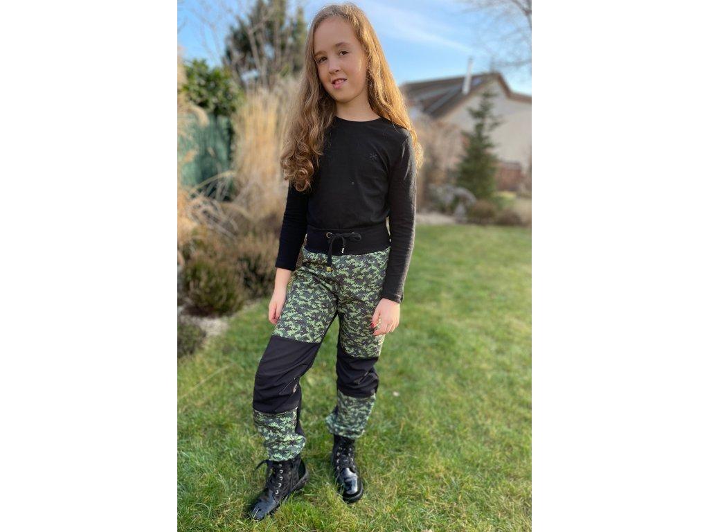 Dětské softshellové kalhoty - očička