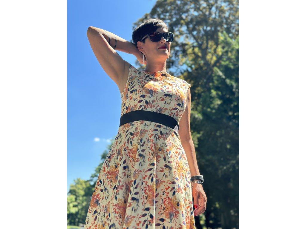 Šaty - fashion girl na hořčicové