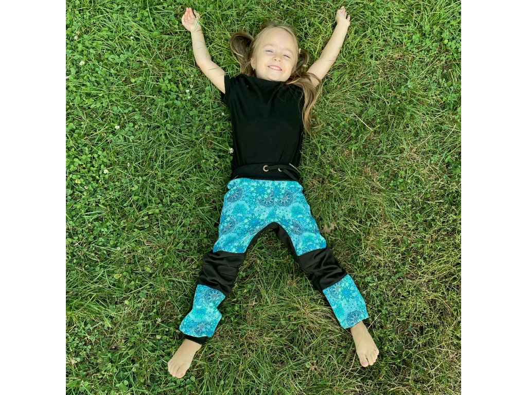 Dětské softshelové kalhoty -mandaly