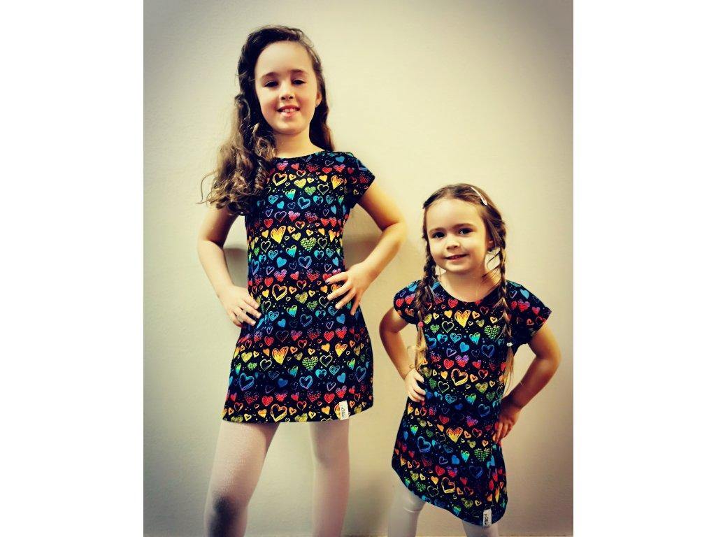 Dětské šaty Ivet - srdíčka