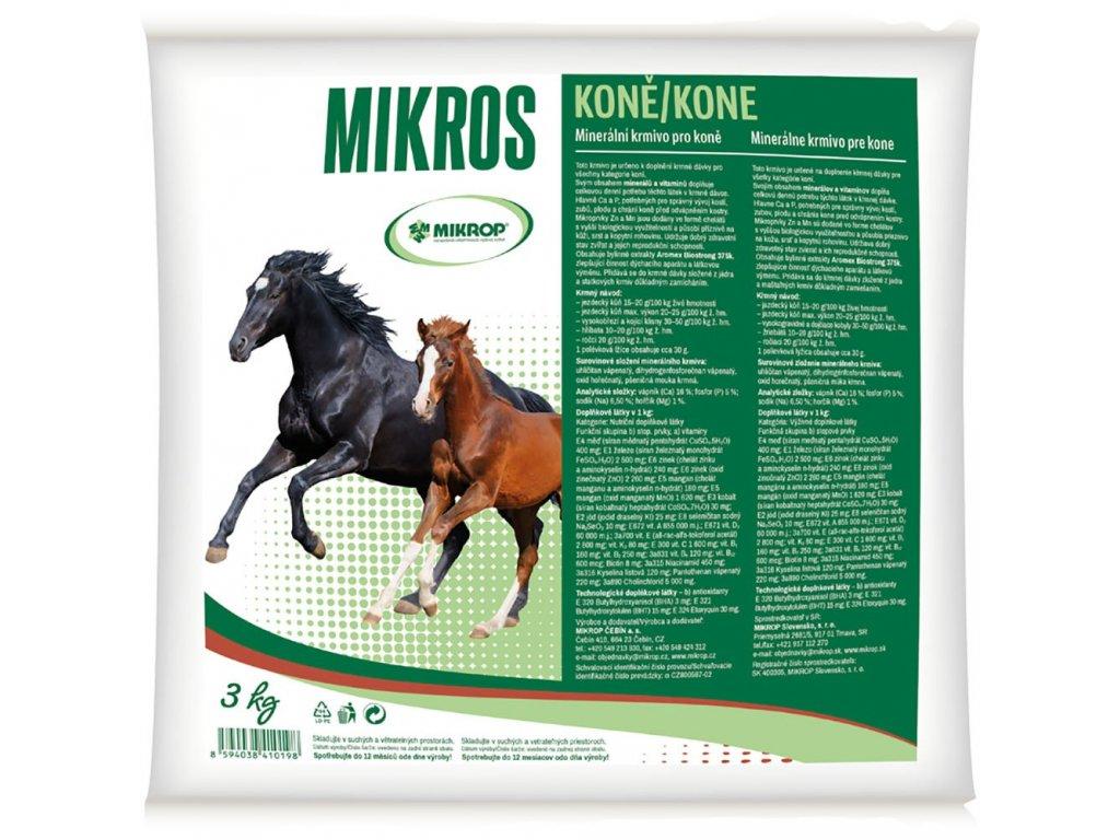 MIKROS Horse VDK pre kone 3 kg
