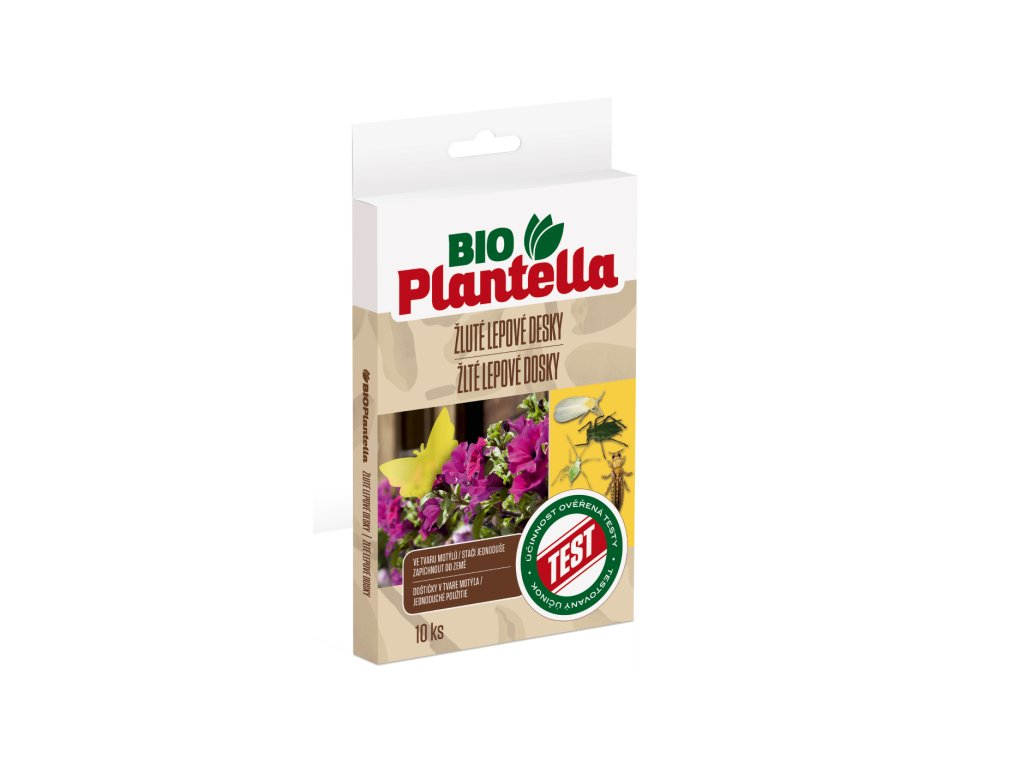 Bio Plantella Rumene lepljive plosce metuljcki 10kom CZ SK