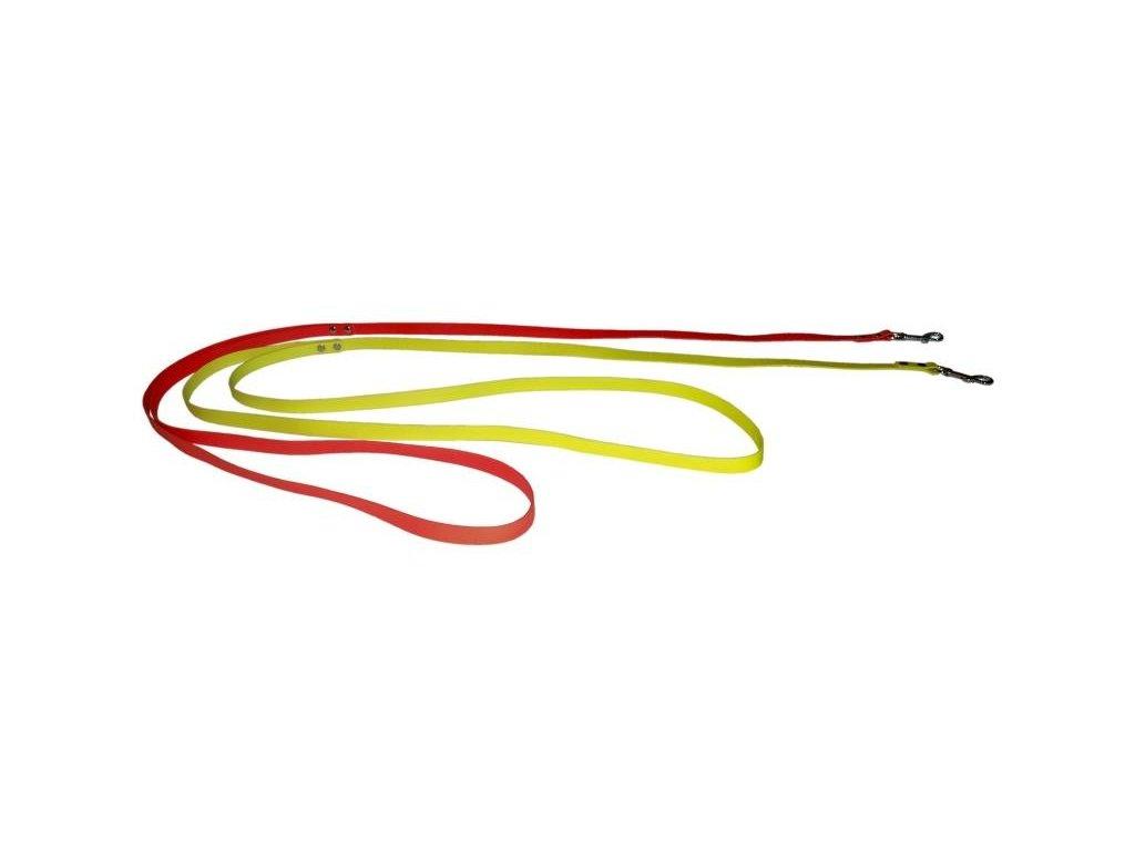 Vypúšťacie vodítko ploché 16mm BIOTHANE oranžová - BT51a