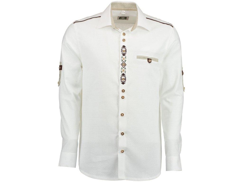 Pánska košela biela dlhý rukáv - 420050-3003/01