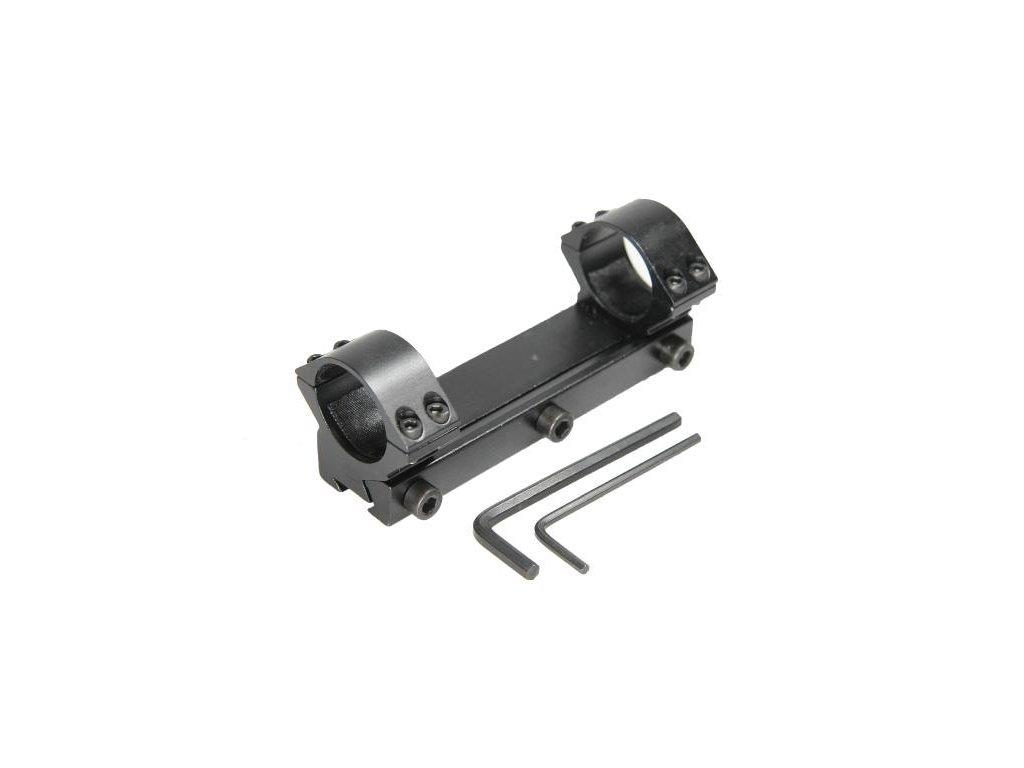 Jednodielna montaz, d=25,4mm, rybina=11mm, h=14mm nizka -  BAU80114