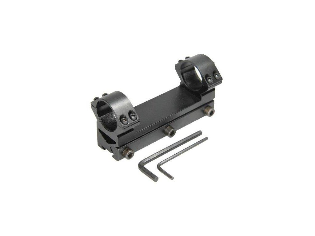Jednodielna montaz, d=25,4mm, rybina=11mm, h=21mm  vysoká -  BAU80115