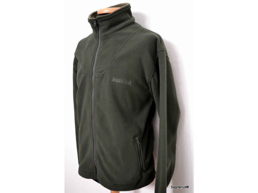Flisová bunda Wald & Forst - olivová farba  - 270569004