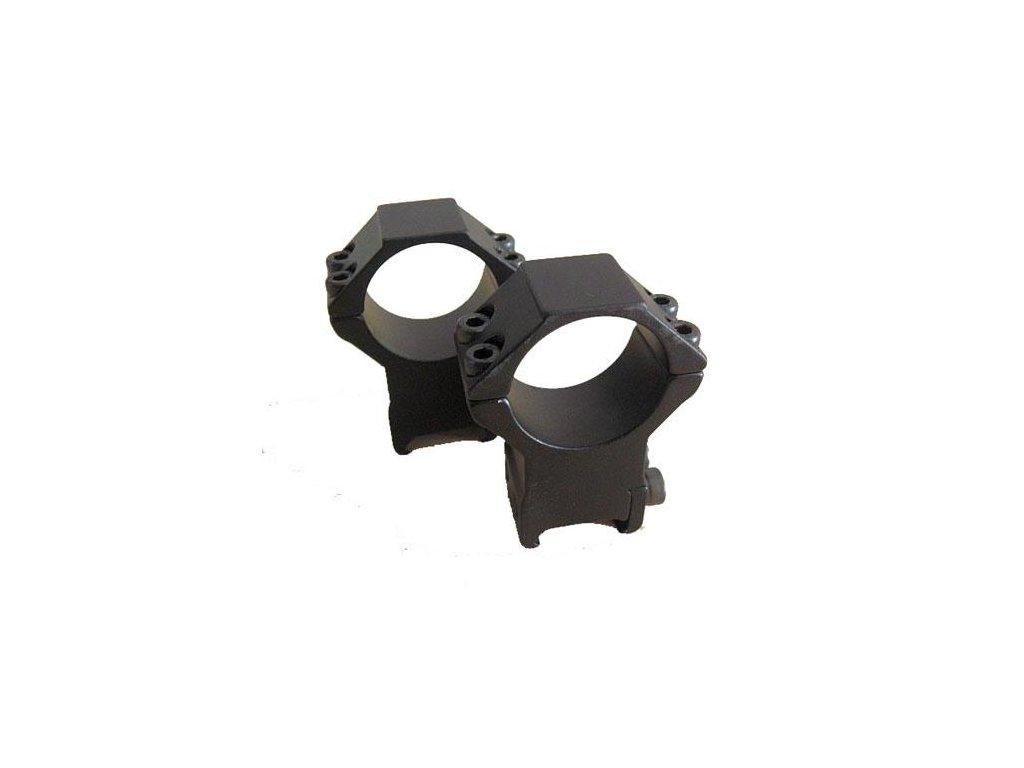 Montáž - Montazna sada, d=30mm, Vysoká(výška=22mm, pre Picatinny, Stop-Pin, hliník) - BAU80138