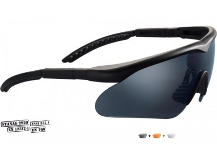 Swiss Eye Raptor (10161), čierny rám - strelecké okuliare