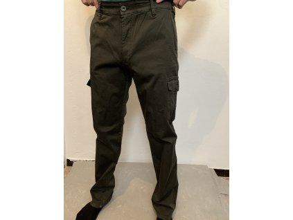 Nohavice zelené eleatické HUNTERTEX