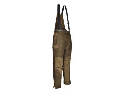 PERCUSSION - Teplé poľovnícke nohavice s trakmi  GRAND NORD - 10101 kaki