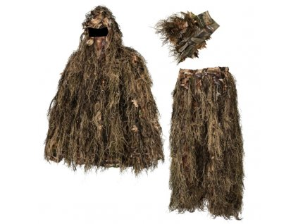 deerhunter sneaky ghillie pull over set w gloves kamuflazny komplet