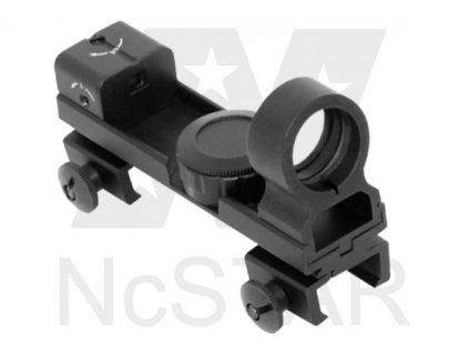 Kolimátor, NcStar, zrkadlový, červený bod, kombinovaná montáž - DAB