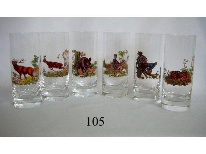 Poháre 3dl poľovnícky motív - 105