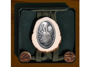 Kravata starostriebro - kamzík