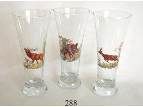 Pivové poháre 3dl/3ks poľovnícky motív - 288
