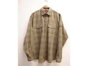 Pánska košeľa, rukáv s nášivkou, olivová - 420000-3054/55