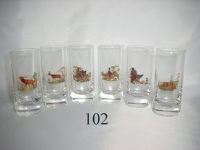 Poháre 60 ml poľovnícky motív - 102